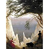 Posters: Caspar David Friedrich Poster Art Print - The Chalk Cliffs Of Rugen, 1818 (32 x 24 inches)