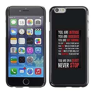 SKCASE Center / Funda Carcasa - Inspirada motivación;;;;;;;; - iPhone 6