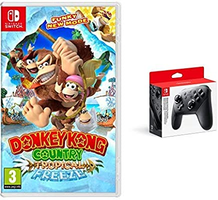 Donkey Kong Country: Tropical Freeze & Nintendo Switch - Mando Pro Controller, Con Cable USB: Amazon.es: Videojuegos