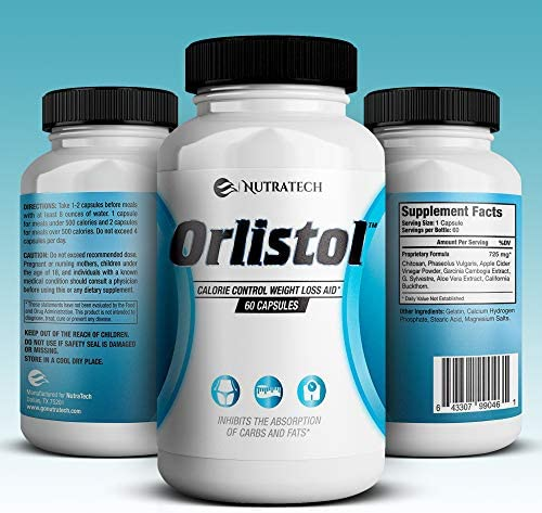 Nutratech Orlistol - Carb and Fat Blocker Weight Loss Aid and Diet Pill for Powerful Fat Burning and Appetite Suppression. Excellent for Keto Diet to Get Back into Ketosis Quickly. 60 Count. 3