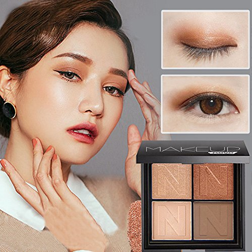 Lowpricenice DaySeventh Fashion 4 Colors Cosmetic Matte Eyeshadow Cream Eye Shadow Makeup Palette Set (Pigment Olive High Cream 1)
