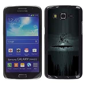 // PHONE CASE GIFT // Duro Estuche protector PC Cáscara Plástico Carcasa Funda Hard Protective Case for Samsung Galaxy Grand 2 / Oscuro Árbol de Goth /