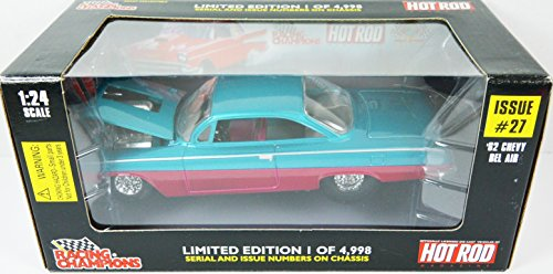 1962 Chevy Bel Air Hot Rod Issue #27 Turquoise & Candy Apple Red 1:24 Racing Champions