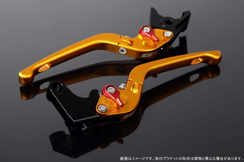 SSK アジャストレバー 3D可倒式 レバー本体カラー:マットゴールド アジャスターカラー:マットレッド XT1200Z 2010-2013 FJR1300 2003-2013 LVDM037GD-RD B07MX7PR3C