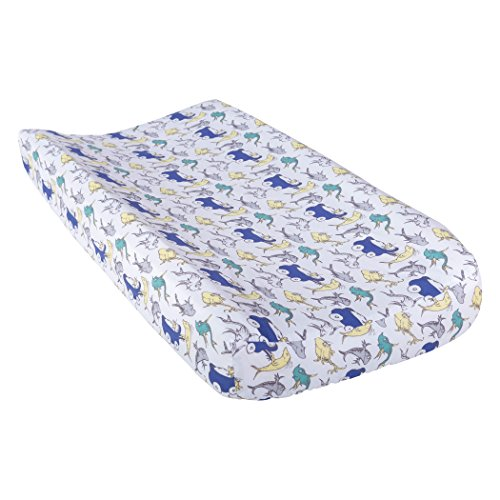 Trend Lab Dr. Seuss New Fish Changing Pad Cover, Blue, Green and Gray ()