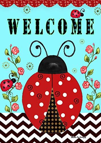 Briarwood Lane Welcome Ladybugs Spring House Flag 28