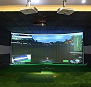 Golf Impact Screen, Indoor Golf Simulator Impact Screen for Home Beginners Series Large Projection Training Ta