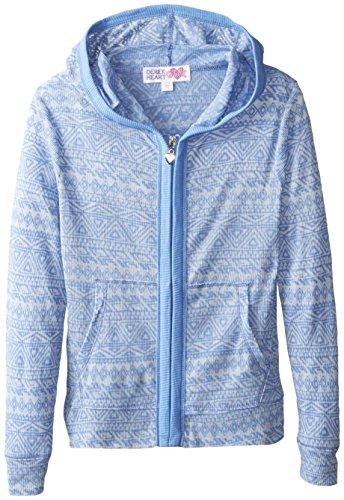 Derek Heart Big Girls' Burn-Out Hooded Sweatshirt