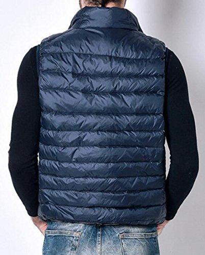 M Blue Men's Packable Sleeveless EKU Jacket Vest Stand Navy Puffer US Collar zAxwq7