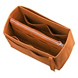 Felt Tote Bag Organizer (with Middle Zipper Bag), Purse Insert, Cosmetic Makeup