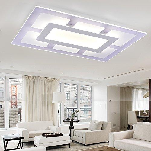 BGmdjcf Slimline Led Ceiling Light , Square Rectangle 6142Cm Monochrome White Light