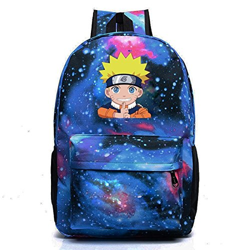 Style-8 E.a@Market Students Anime  Naruto  Syaringan Canvas Backpack Starry Sky Style (Style-2)