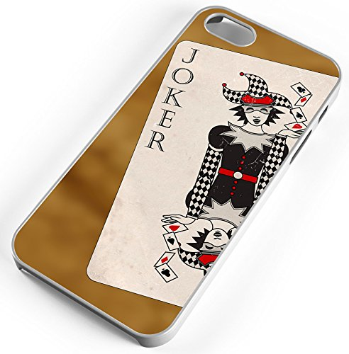 iPhone 7 Plus 7+ Case Everyone's A Joker Playing Card Customizable TYD Designs in White Plastic