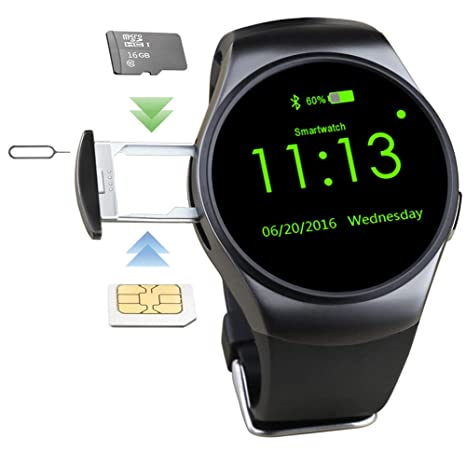 Amazon.com: smart watch LYQ KW18 Bluetooth Fitness Tracker ...