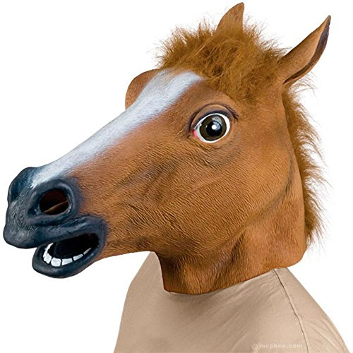 [Leegoal Novelty Latex Horse Head Mask Gangnam Style] (Halloween Costumes For 4 People)