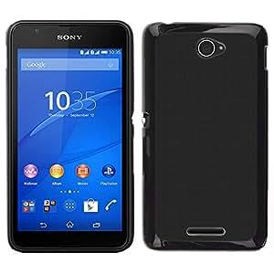 Caucho caso de Shell duro de la cubierta de accesorios de protección BY RAYDREAMMM - Sony Xperia E4 - Simple Gray