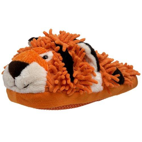 Fuzzy Friends Women's Tiger Slipper,Orange,One Size