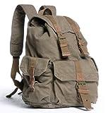 Vagabond Traveler 20″ Large Sport Washed Canvas Backpack C04.GRN For Sale