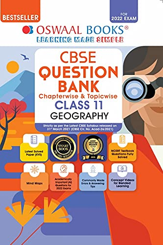 Oswaal CBSE Question Bank Class 11 Geography Book Chapterwise & Topicwise Includes Objective Types & MCQ's (For 2022 Exam)