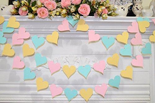 Amazon Pastel Wedding Garland 10 Foot Pastel Pink Yellow