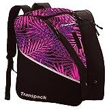 Transpack Edge Junior Ski Boot Bag 2017 - Pink-Purple-Black Palm