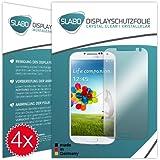 "4 x Slabo Displayschutzfolie Samsung Galaxy S4 Displayschutz Schutzfolie Folie ""Crystal Clear"" unsichtbar MADE IN GERMANY"