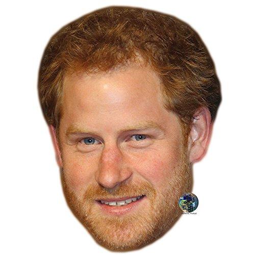 Prince Harry (Beard) Celebrity Mask, Card Face and Fancy Dress - Prince Mask