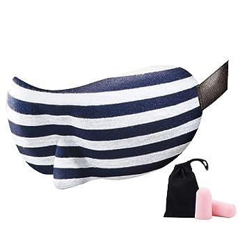 Máscara para dormir con tapones para los oídos, máscara para ...