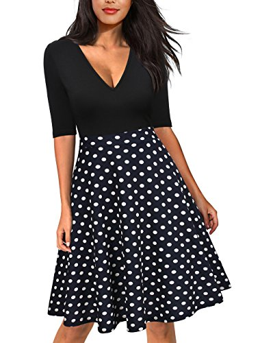 lace polka dot dress - 2