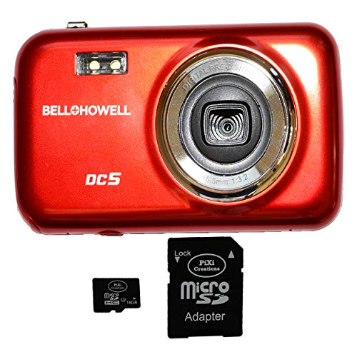 Bell+Howell DC5-R 5MP Digital Camera (Deep Red) Plus 16GB Memory Card