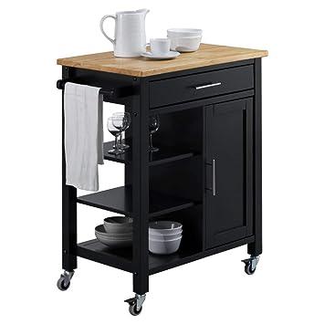 Amazon.com: 4d Conceptos Edmonton Carrito de cocina: Kitchen ...