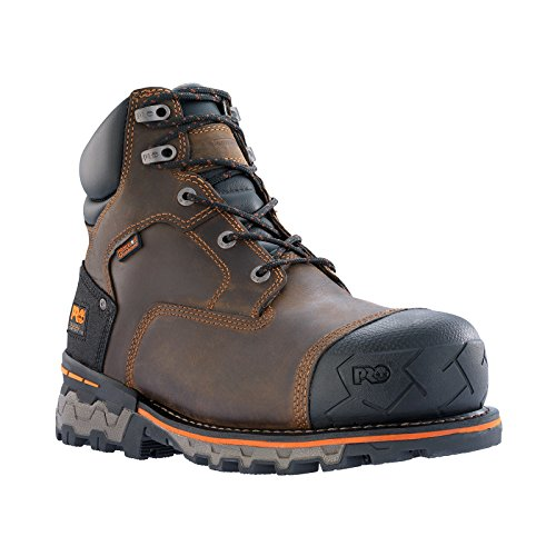 Timberland PRO Men's Boondock 6 Inch Waterproof Non-Insulated Work Boot,Brown Oiled Distressed,9.5 M US by Timberland PRO