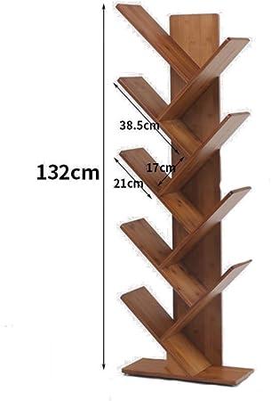 DULPLAY árbol en Forma de Madera Estantería de bambú,Espesado Estantería Decorativa Nivel 2-6 Repisa Escalera Marco Decorativo Multifuncional Organizador de Almacenamiento -D 44x20x132cm(17x8x52inch): Amazon.es: Hogar