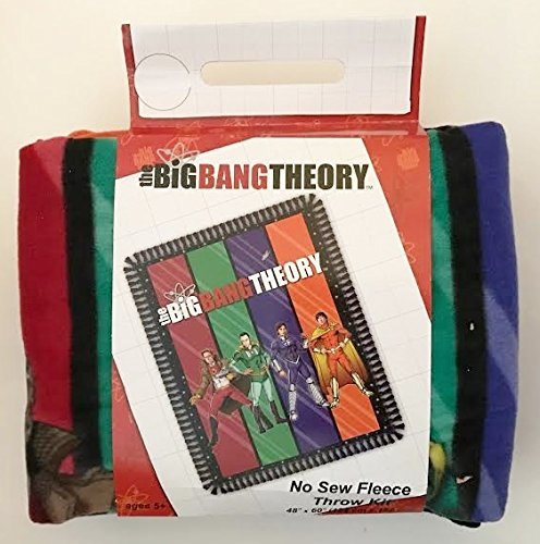 The Big Bang Theory Fleece No-Sew Throw Blanket Kit (48'' X 60'') by Big Bang Theory