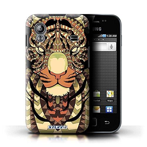 Stuff4 Hülle / Hülle für Samsung Galaxy Ace / Tiger-Sepia Muster / Aztec Tier Muster Kollektion