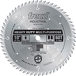 Freud Lu82m010 10-inch 60 Tooth Tcg Crosscutting & Ripping Saw Blade With 58-inch Arbor