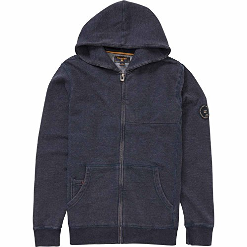 Embroidery Navy Blue Hoodie - 6
