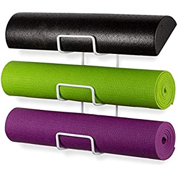 Amazon.com: Wallniture Wall Mount Yoga Mat Foam Roller and