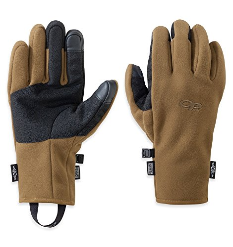Outdoor Research Men's Gripper Sensor Gloves Coyote L & Knit Cap (Knit Gripper Glove)