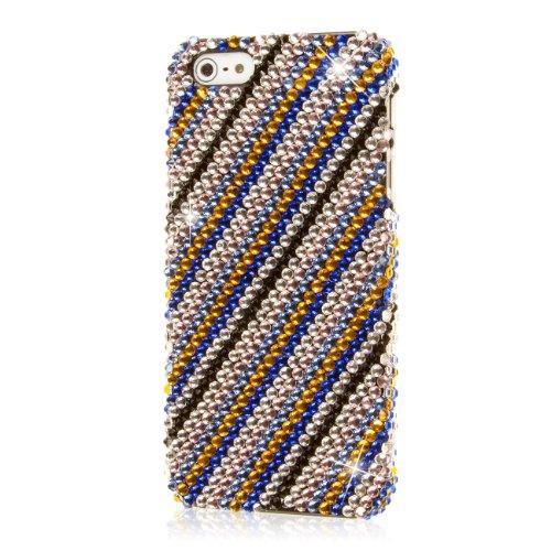 EMPIRE GLITZ Slim-Fit Case Étui Coque for Apple iPhone 5 / 5S - Bleu Accent (Films de protection d'é