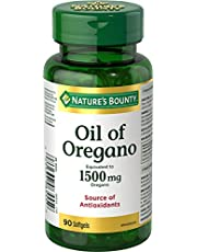 Nature's Bounty Oil of Oregano Supplement, Source of Antioxidants, 90 Softgels