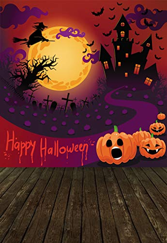 KSZUT 5x7ft Happy Halloween Photography Backdrop Horror Decoration Cartoon Children Celebration Ghost Backdrop Halloween Party Banner dz-2118