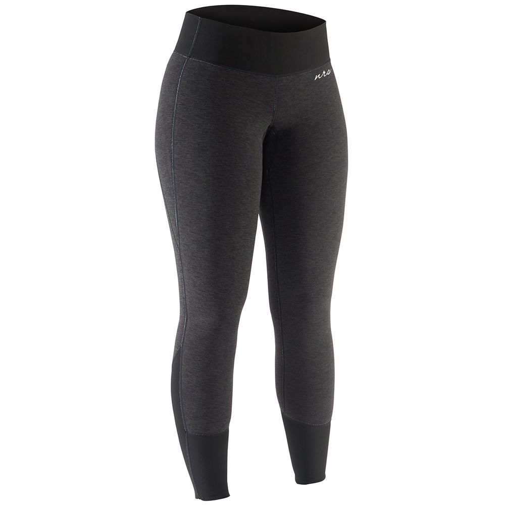 NRS Women's HydroSkin 1.5 Charcoal Heather Black M by NRS