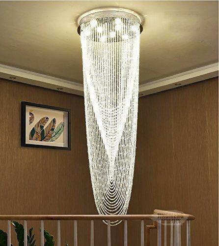 Cheap Saint Mossi Modern K9 Crystal Raindrop Chandelier Lighting Flush mount LED Ceiling Light Fixture Pendant Lamp for Dining Room Bathroom Bedroom Livingroom 9 GU10 Bulbs Required H71 X D24