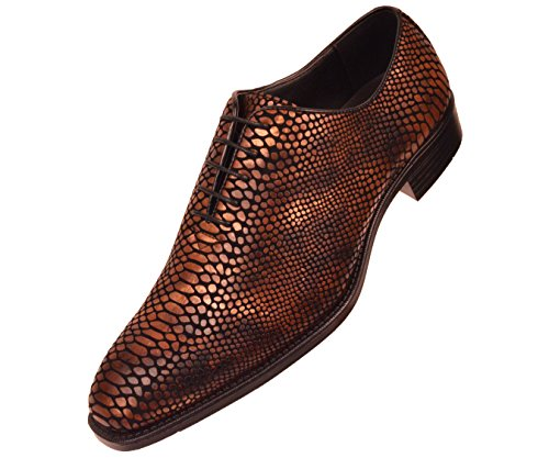 d7b15df41 Bolano Mens Exotic Faux Snake Skin Print Oxford Dress Shoe  Style Seabrook