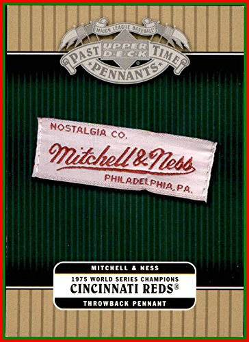 2005 UD Upper Deck Past Time Pennants Mitchell and Ness Pennants #1975C 1975 Cincinnati Reds BIG RED MACHINE vs. BOSTON RED ()