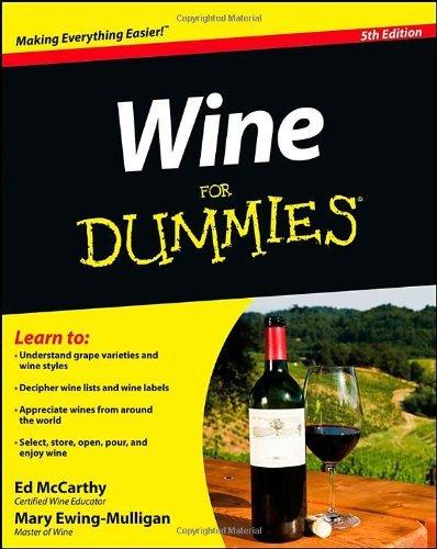 Download By Ed McCarthy - Wine For Dummies (5th Edition) (8/15/12) PDF ePub fb2 ebook