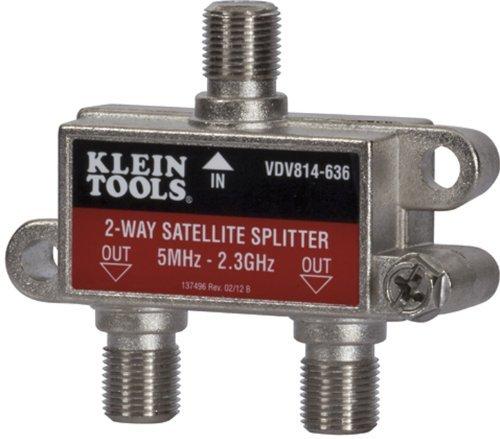 Klein Tools VDV814-636 Coax Splitter - Satellite, 2-Way, 5MHz - 2.3GHz by Klein Tools