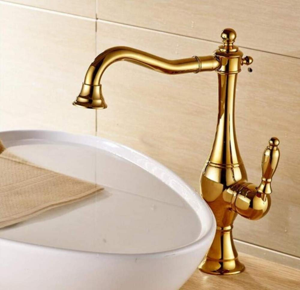 Brass Chrome Hot and Cold Water Faucet Washbasin Brass Deck Mount Bathroom Basin Faucet Single Handle Countertop Tap Mixer