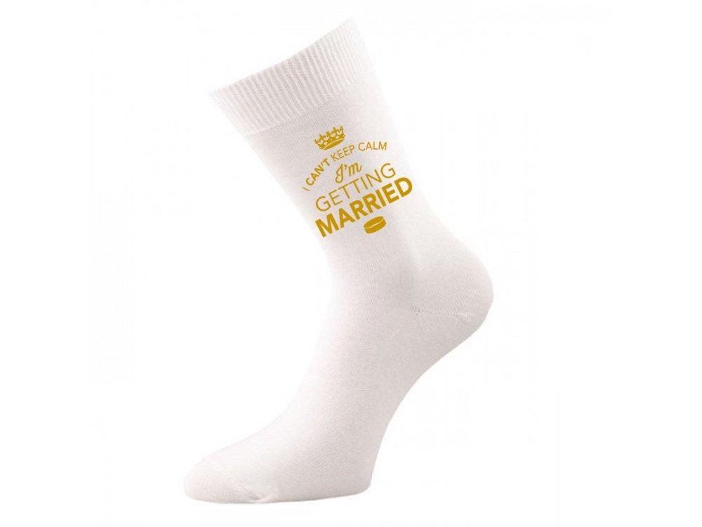 High Quality I Can/'t Keep Calm I/'m Getting Married Design Socks,